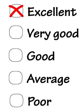 Survey questionnaire, poll vector Vector