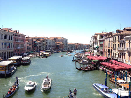 rialto: A shot from Venices Rialto Bridge