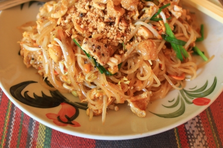 Pad Thai or Patthai, Thai noodle style photo