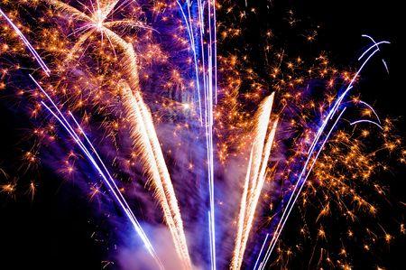 vibrant fireworks Stock Photo