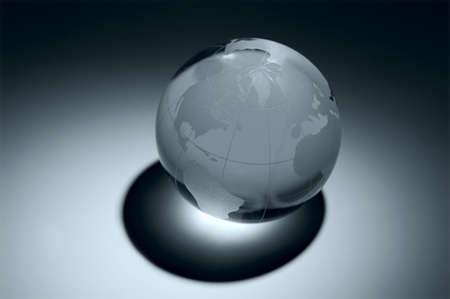 blue glass earth Stock Photo