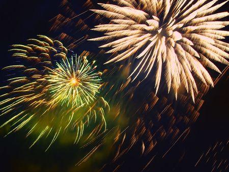 darck: fireworks on darck blue