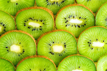 kiwi slices background Stock Photo
