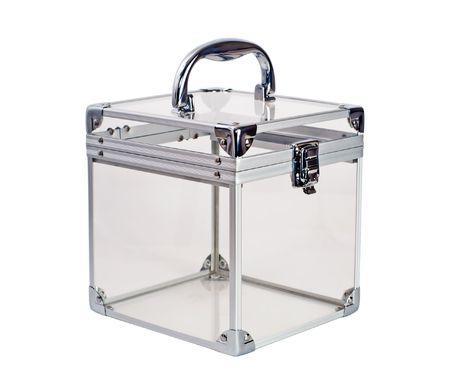 metall and glass: empty container Stock Photo