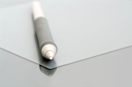 electronic pen on touchpad tablet