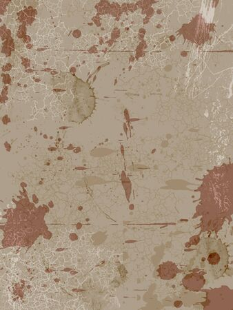 blotted and  scratched brown  background