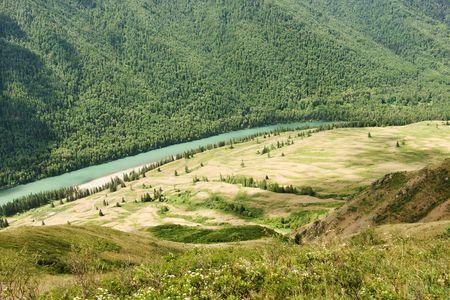 Katun river in the Altai mountains Stock Photo - 3420583