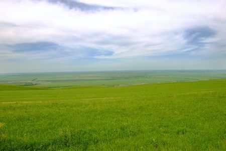 tableland: viwq from green grass table-land
