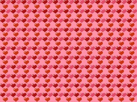 red hearts pattern background on pink Stock Photo - 3702362
