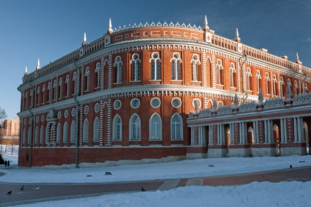 the tsaritsyno: Tsaritsyno palace in Moskow, Russia