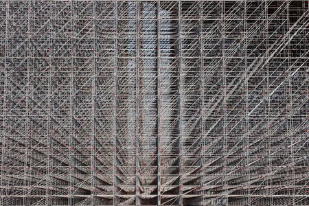mesh from iron pipes background photo
