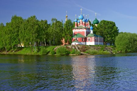 Church of the Dmitry in Uglich. Volga river.