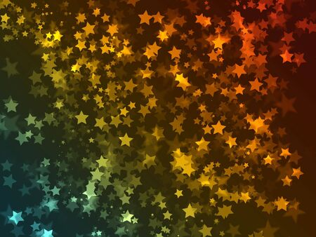 celebration background with many colored starts over dark gradient Stock Photo - 5957203