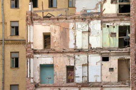 deserted building with fallen wall Stock Photo - 5989687