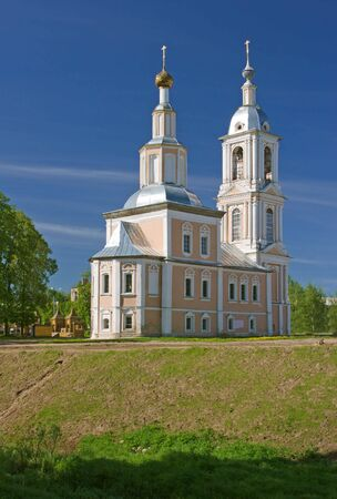 kazansky: Kazansky church in Uglich with clear sky