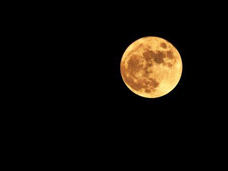 moon crater: full moon on black sky