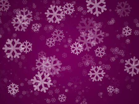 purple holiday cover with many snowflakes and dots Stock Photo - 6078211