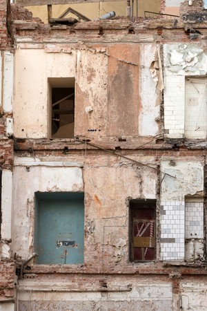deserted building with fallen wall Stock Photo - 7070672