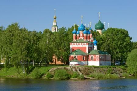 Church of the Dmitry in Uglich. Volga river.