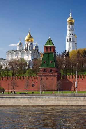 Vew on Moscow kremlin from Sofijskaya quay Stock Photo - 13804546