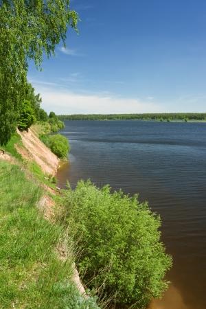 River landscape with high brink, Volga, Russia  photo
