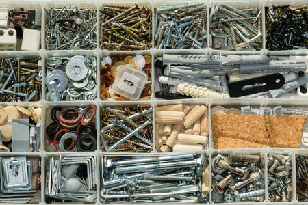 bolts and nuts: Organized screws bolts nuts and washers