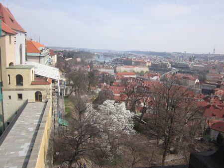 Prague castle view Banco de Imagens