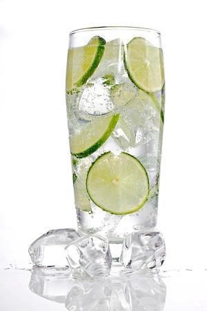 Cold fresh lemonade photo