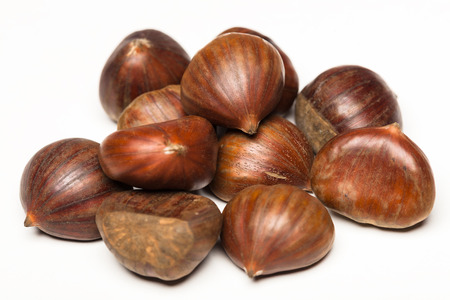 maroni: chestnut fruit Stock Photo