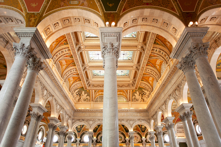 ceiling and columns in library of congress