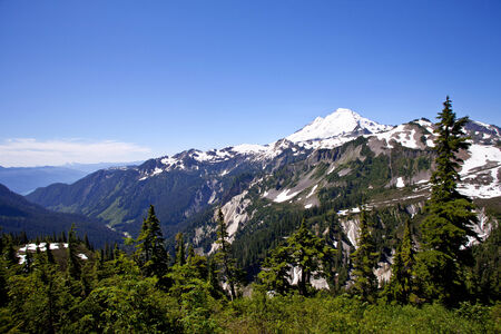 Mount Baker view from Artist Point 版權商用圖片 - 32042681