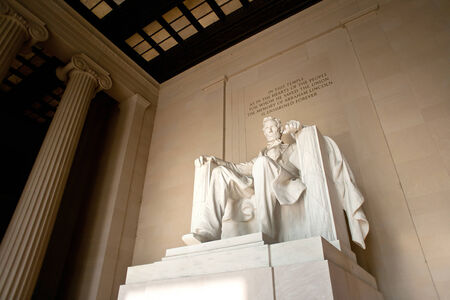 Lincoln statue at Lincoln Memorial, Washington D.C. photo