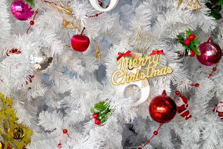 seasonal greeting: Christmas decoration as background for seasonal greeting Stock Photo