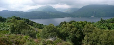 loch lomond: Loch Lomond panoramic view Stock Photo