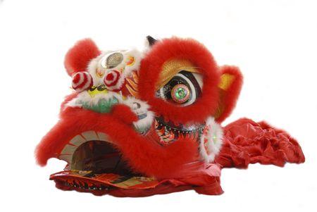 Lion dance costume photo