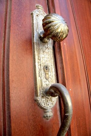 Dirty old door knob photo