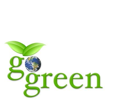 green planet: Go green Stock Photo