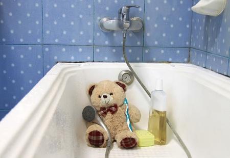 teddy bear waiting for a wash Stock Photo - 9944967