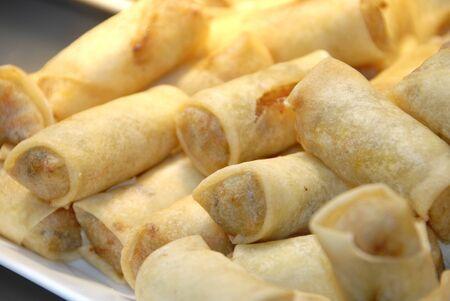 fresh fried spring rolls photo