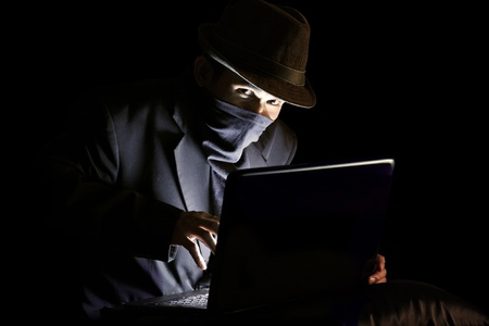 robando: Equipo Hacker Foto de archivo