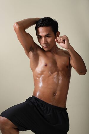 boxer shorts: mixed martial art Stock Photo