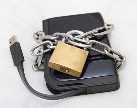 disco duro: seguro de datos, la unidad externa Foto de archivo