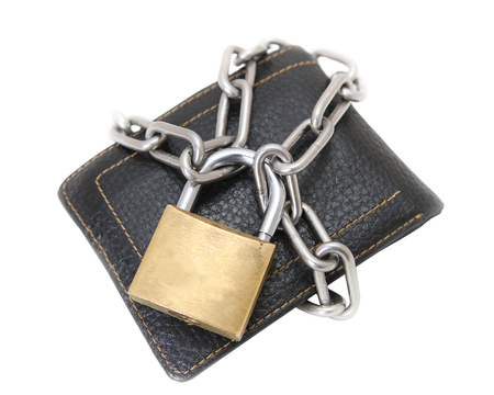 financial security, locked wallet photo