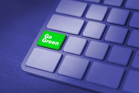 going green: Going green campaign concept Stock Photo