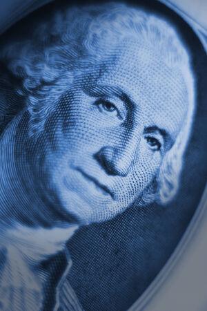 george washington: george washington, billete de un dólar Foto de archivo