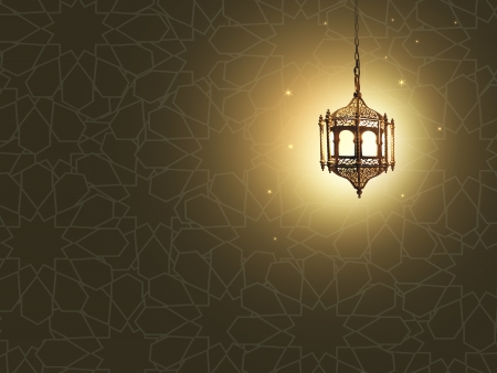 lantern with classic arabic texture photo