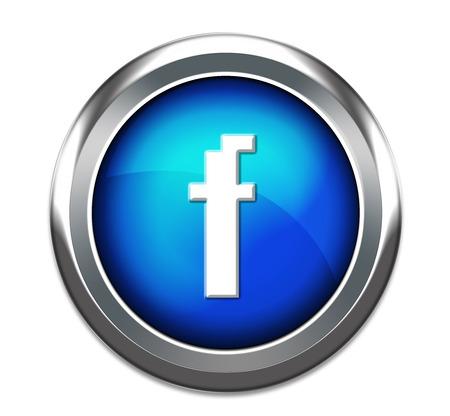 unique f button isolated in white photo