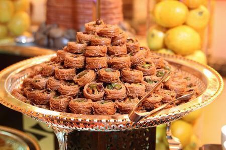 baklawa: arabic sweet baklava Stock Photo