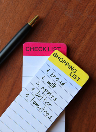 todo list: shopping list, to-do list Stock Photo