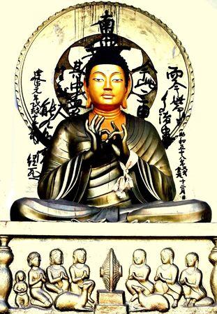nirvana: Nirvana- Gautam Buddha statue at Shanti Stupa, Ladakh